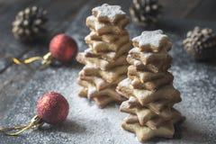 Σπιτικά χριστουγεννιάτικα δέντρα Στοκ Εικόνες