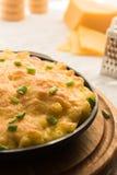 Σπιτικά ψημένα μακαρόνια με το τυρί παρμεζάνας στοκ φωτογραφίες