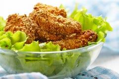 Σπιτικά ψημένα ψήγματα κοτόπουλου Στοκ Εικόνες