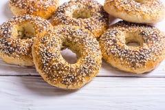Σπιτικά bagels της Νέας Υόρκης Στοκ Φωτογραφίες