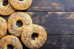 Σπιτικά bagels της Νέας Υόρκης Στοκ φωτογραφίες με δικαίωμα ελεύθερης χρήσης