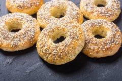 Σπιτικά bagels της Νέας Υόρκης Στοκ φωτογραφία με δικαίωμα ελεύθερης χρήσης