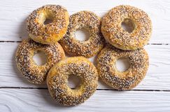 Σπιτικά bagels της Νέας Υόρκης Στοκ Εικόνα