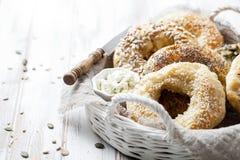 Σπιτικά bagels Στοκ Εικόνες