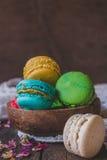 Σπιτικά macaroons μπισκότα στοκ φωτογραφίες με δικαίωμα ελεύθερης χρήσης