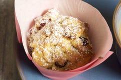 Σπιτικά muffins τυριών εξοχικών σπιτιών Στοκ εικόνα με δικαίωμα ελεύθερης χρήσης