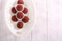 Σπιτικές καραμέλες τρουφών σοκολάτας στοκ φωτογραφίες με δικαίωμα ελεύθερης χρήσης