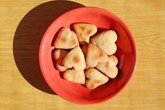 Σπιτικές καρδιές μπισκότων Στοκ Εικόνα