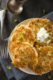 Σπιτικές τηγανίτες πατατών Boxty ιρλανδικές στοκ εικόνες με δικαίωμα ελεύθερης χρήσης