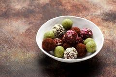Σπιτικές τρούφες καραμελών Στοκ Φωτογραφία