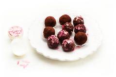 Σπιτικές τρούφες σοκολάτας γλυκών Στοκ φωτογραφία με δικαίωμα ελεύθερης χρήσης