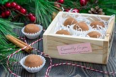 Σπιτικές τρούφες σοκολάτα-καραμέλας Στοκ Φωτογραφία