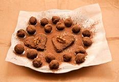σπιτικές τρούφες σοκολά& Στοκ Εικόνα