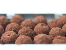 σπιτικές τρούφες σοκολά& Στοκ Φωτογραφίες