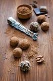 σπιτικές τρούφες Στοκ φωτογραφία με δικαίωμα ελεύθερης χρήσης