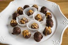 Σπιτικές υγιείς τρούφες σοκολάτας στοκ εικόνες με δικαίωμα ελεύθερης χρήσης