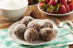 Σπιτικές doughnut σοκολάτας τρύπες Στοκ Εικόνα