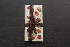 Σπιτική άσπρη σοκολάτα κεραμιδιών Στοκ Εικόνα