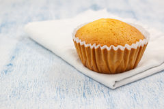 Σπιτική βανίλια cupcake Στοκ Φωτογραφίες