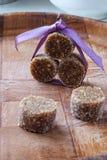 Σπιτική δευτερεύουσα λεπτομέρεια πορτρέτου γλυκών σοκολάτας σύκων Στοκ φωτογραφία με δικαίωμα ελεύθερης χρήσης