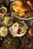 Σπιτική ημέρα των ευχαριστιών Τουρκία σε ένα πιάτο Στοκ Φωτογραφία