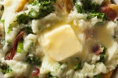 Σπιτική ιρλανδική πατάτα Colcannon Στοκ εικόνα με δικαίωμα ελεύθερης χρήσης