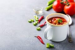 σπιτική ντομάτα σούπας Στοκ φωτογραφία με δικαίωμα ελεύθερης χρήσης