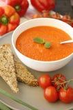 σπιτική ντομάτα σούπας Στοκ Εικόνες