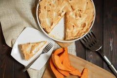 Σπιτική πίτα κολοκύθας για Thanksigiving Στοκ εικόνα με δικαίωμα ελεύθερης χρήσης