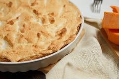 Σπιτική πίτα κολοκύθας για Thanksigiving Στοκ Εικόνα