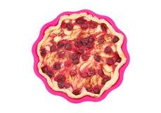 Σπιτική πίτα μήλων και κερασιών Στοκ Εικόνες
