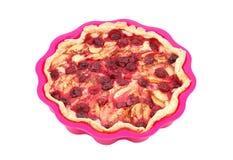 Σπιτική πίτα μήλων και κερασιών Στοκ Εικόνα