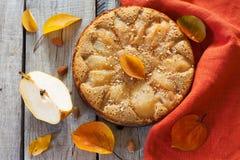 Σπιτική πίτα με τα αχλάδια Στοκ Φωτογραφία