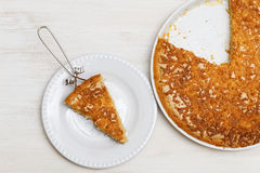 Σπιτική πίτα με τη Apple και το λεμόνι Στοκ εικόνες με δικαίωμα ελεύθερης χρήσης