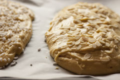 Σπιτική πίτα με το αμύγδαλο Στοκ εικόνα με δικαίωμα ελεύθερης χρήσης