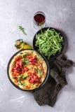 Σπιτική πίτσα με το bresaola Στοκ Εικόνα