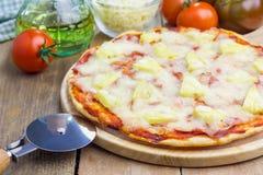 Σπιτική πίτσα της Χαβάης Στοκ Εικόνα