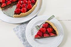 Σπιτική παρακμιακή φράουλα σοκολάτας ξινή Στοκ εικόνα με δικαίωμα ελεύθερης χρήσης