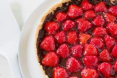 Σπιτική παρακμιακή φράουλα σοκολάτας ξινή Στοκ Εικόνες