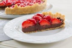 Σπιτική παρακμιακή φράουλα σοκολάτας ξινή Στοκ εικόνες με δικαίωμα ελεύθερης χρήσης