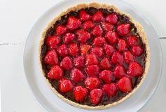 Σπιτική παρακμιακή φράουλα σοκολάτας ξινή Στοκ φωτογραφία με δικαίωμα ελεύθερης χρήσης