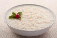 Σπιτική παραδοσιακή πουτίγκα ρυζιού για το πρόγευμα Στοκ εικόνες με δικαίωμα ελεύθερης χρήσης