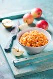 Σπιτική πλήρωση μήλων για τις πίτες Στοκ Φωτογραφίες