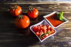 Σπιτική σάλτσα ντοματών στοκ εικόνες με δικαίωμα ελεύθερης χρήσης