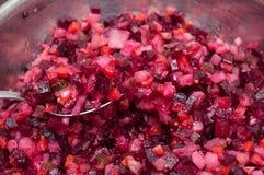 Φυτική σαλάτα με τα διάφορα συστατικά στοκ φωτογραφία