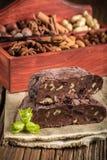 Σπιτική σοκολάτα με τα καρύδια Στοκ Εικόνες