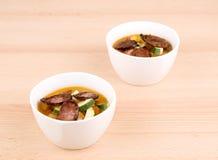 σπιτική σούπα πικάντικα νόσ&tau στοκ φωτογραφία