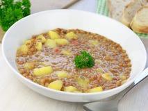 Σπιτική σούπα φακών Στοκ Εικόνα