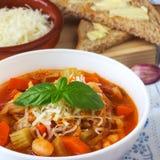 Σπιτική σούπα Minestrone στοκ εικόνες