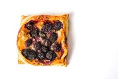Σπιτική φέτα πιτών φρούτων στο άσπρο υπόβαθρο Στοκ εικόνες με δικαίωμα ελεύθερης χρήσης